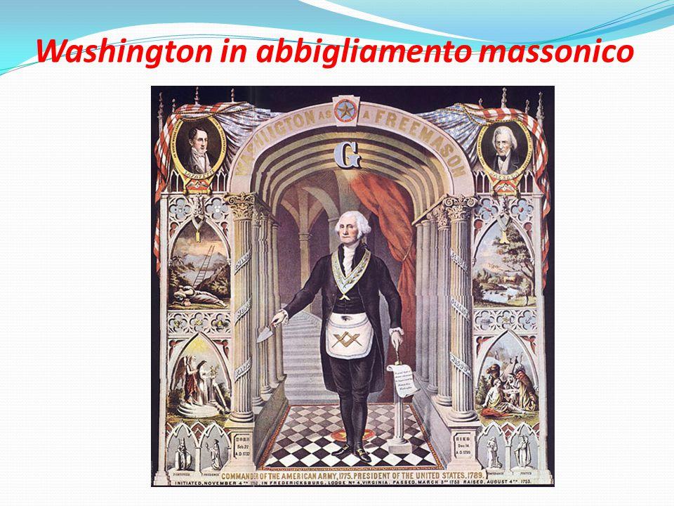 Washington in abbigliamento massonico