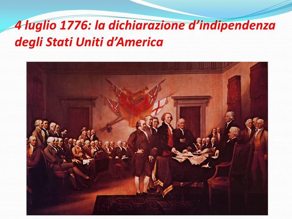 4 luglio 1776: la dichiarazione d'indipendenza degli Stati Uniti d'America