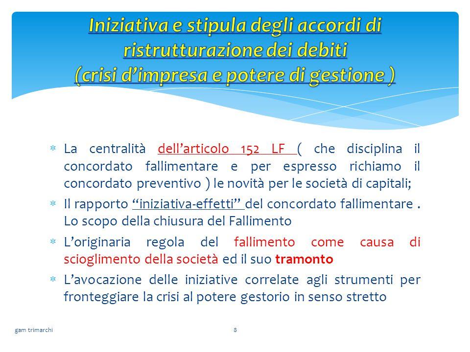  La centralità dell'articolo 152 LF ( che disciplina il concordato fallimentare e per espresso richiamo il concordato preventivo ) le novità per le s