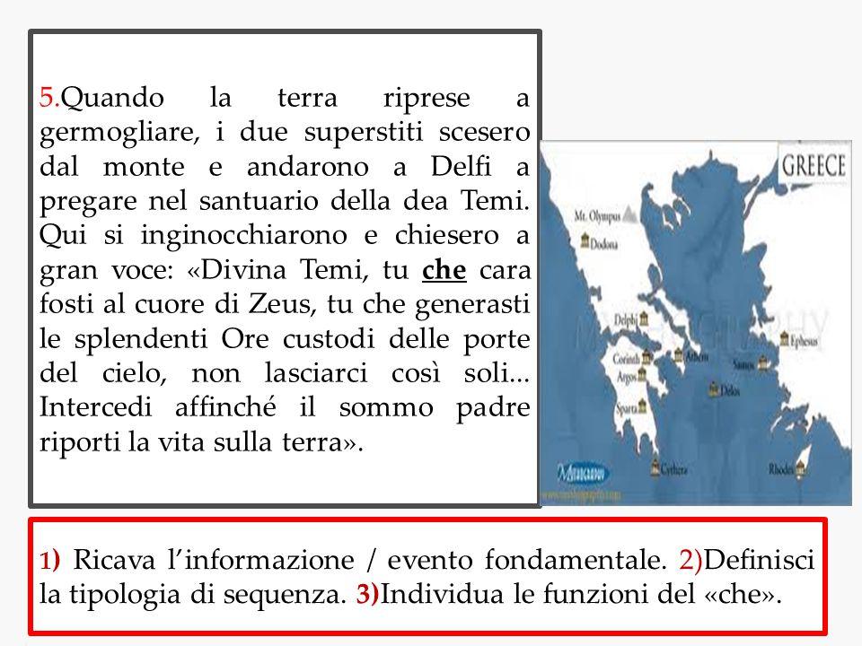 6.Zeus dall alto dell Olimpo udì l invocazione e prima ancora che Temi intercedesse mandò a lei il suo messaggero.