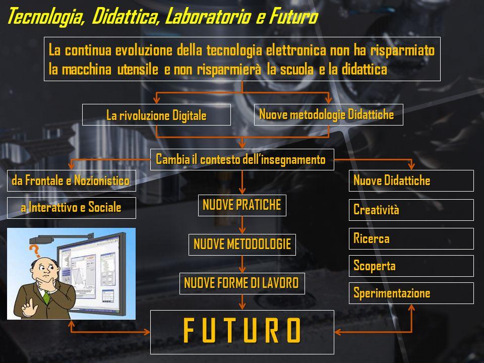 Tecnologia, Didattica, Laboratorio e Futuro La continua evoluzione della tecnologia elettronica non ha risparmiato la macchina utensile e non risparmi