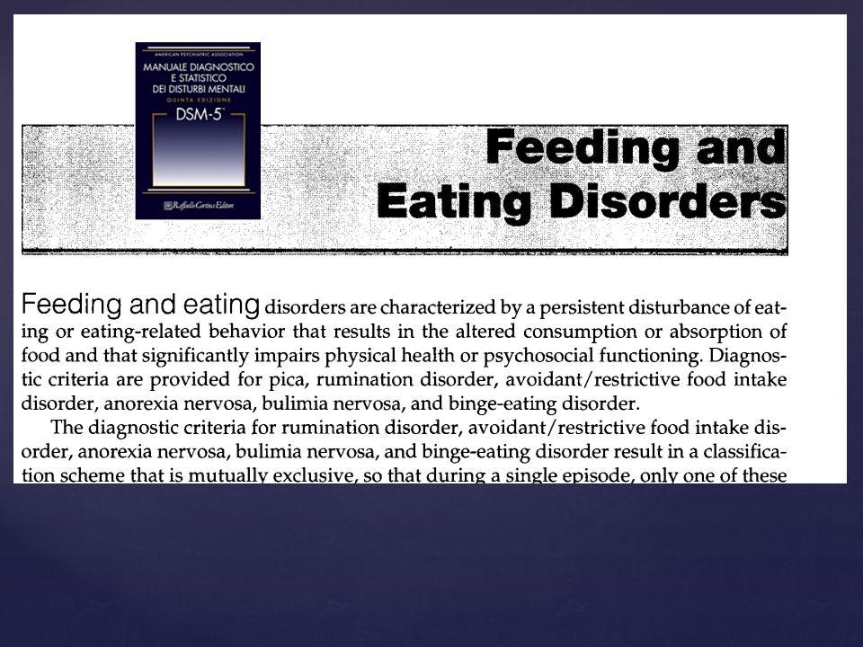 Disturbi del comportamento alimentare e Stress ossidativo ? Review della letteratura più recente