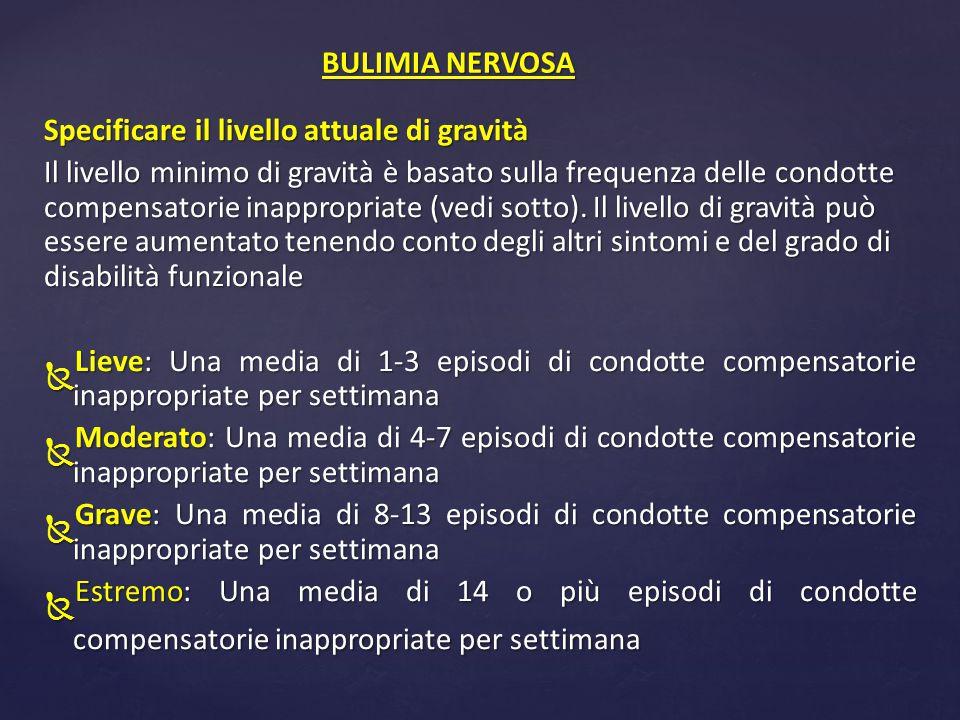 A.Ricorrenti crisi bulimiche.