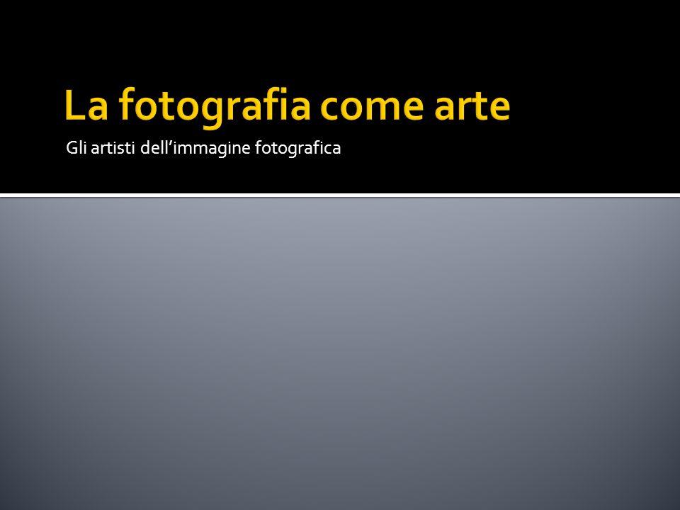 Gli artisti dell'immagine fotografica