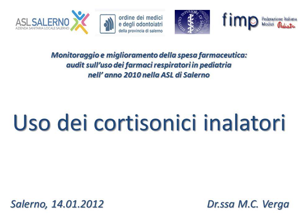Monitoraggio e miglioramento della spesa farmaceutica: audit sull'uso dei farmaci respiratori in pediatria nell' anno 2010 nella ASL di Salerno Uso de