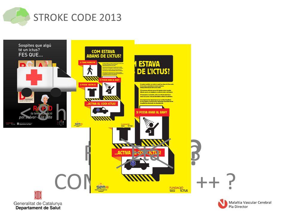STROKE CODE 2013 ICTUS RANKIN<= 3 COMORBILITÀ ++ < 8 h Età