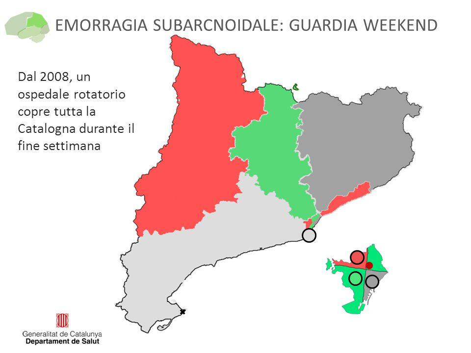 EMORRAGIA SUBARCNOIDALE: GUARDIA WEEKEND Dal 2008, un ospedale rotatorio copre tutta la Catalogna durante il fine settimana