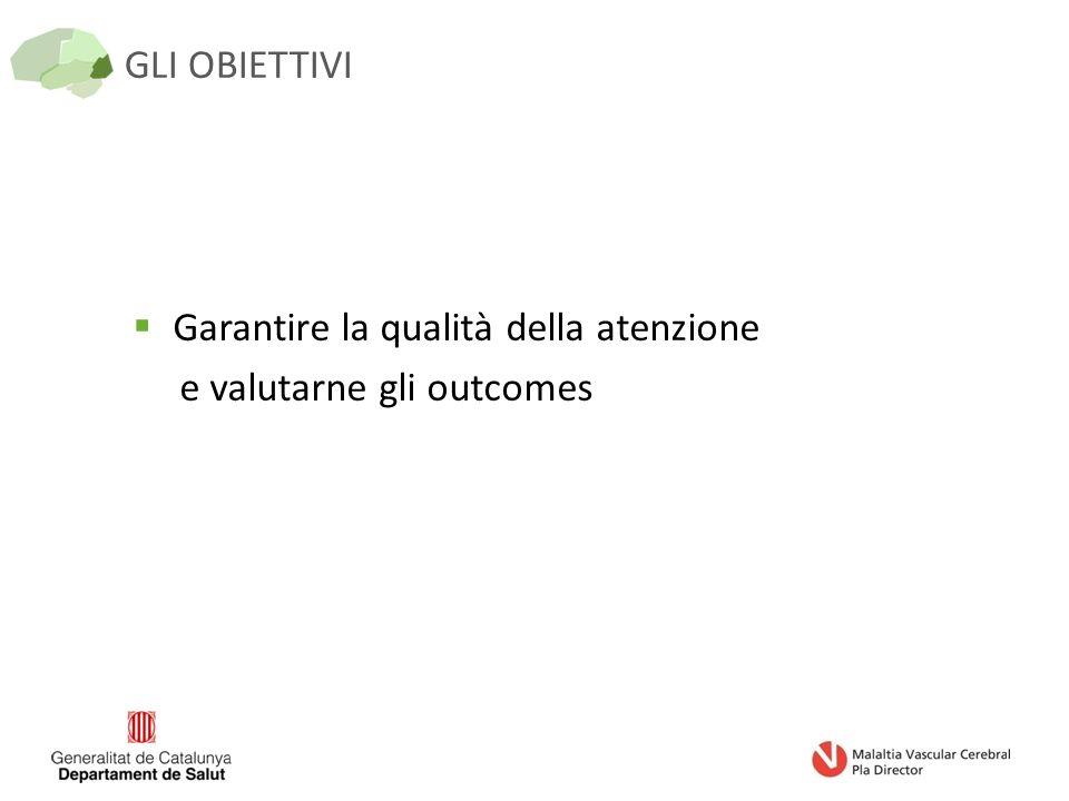 GLI OBIETTIVI  Garantire la qualità della atenzione e valutarne gli outcomes