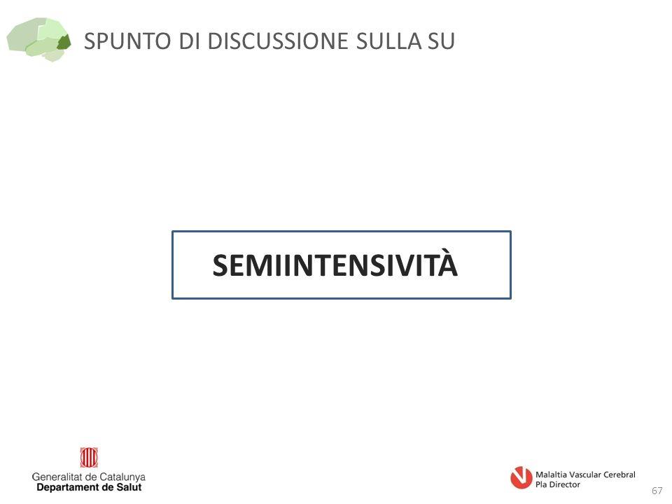 SPUNTO DI DISCUSSIONE SULLA SU 67 SEMIINTENSIVITÀ