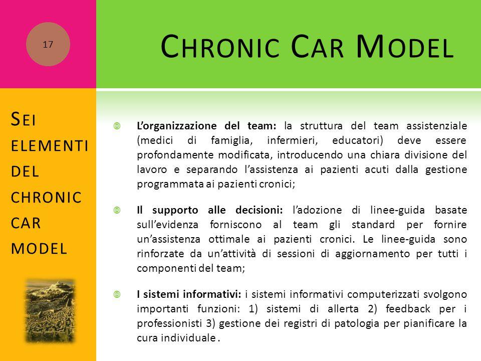  L'organizzazione del team: la struttura del team assistenziale (medici di famiglia, infermieri, educatori) deve essere profondamente modificata, int