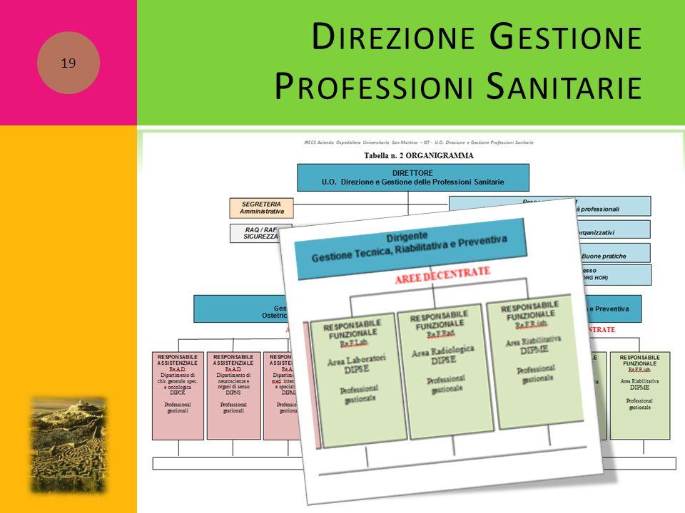 D IREZIONE G ESTIONE P ROFESSIONI S ANITARIE 19