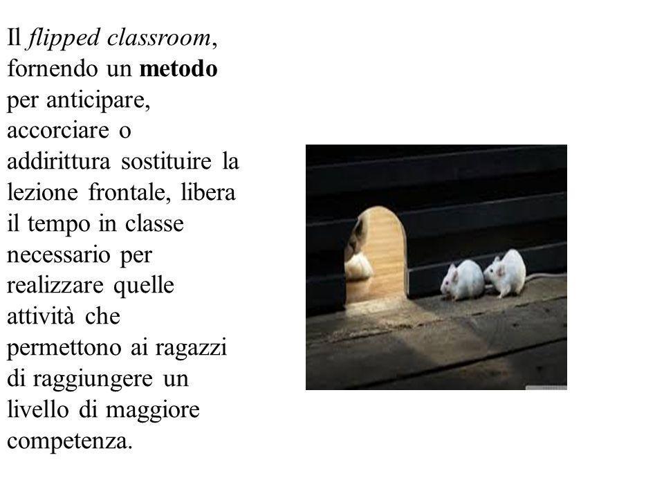 Il flipped classroom, fornendo un metodo per anticipare, accorciare o addirittura sostituire la lezione frontale, libera il tempo in classe necessario