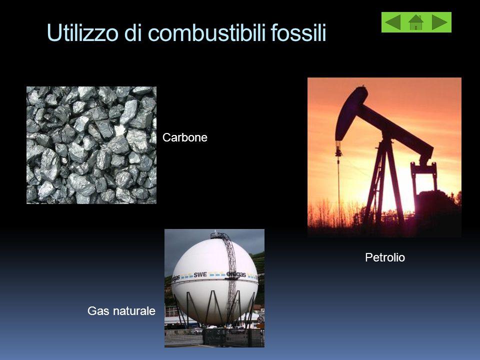 Petrolio Utilizzo di combustibili fossili Carbone Gas naturale