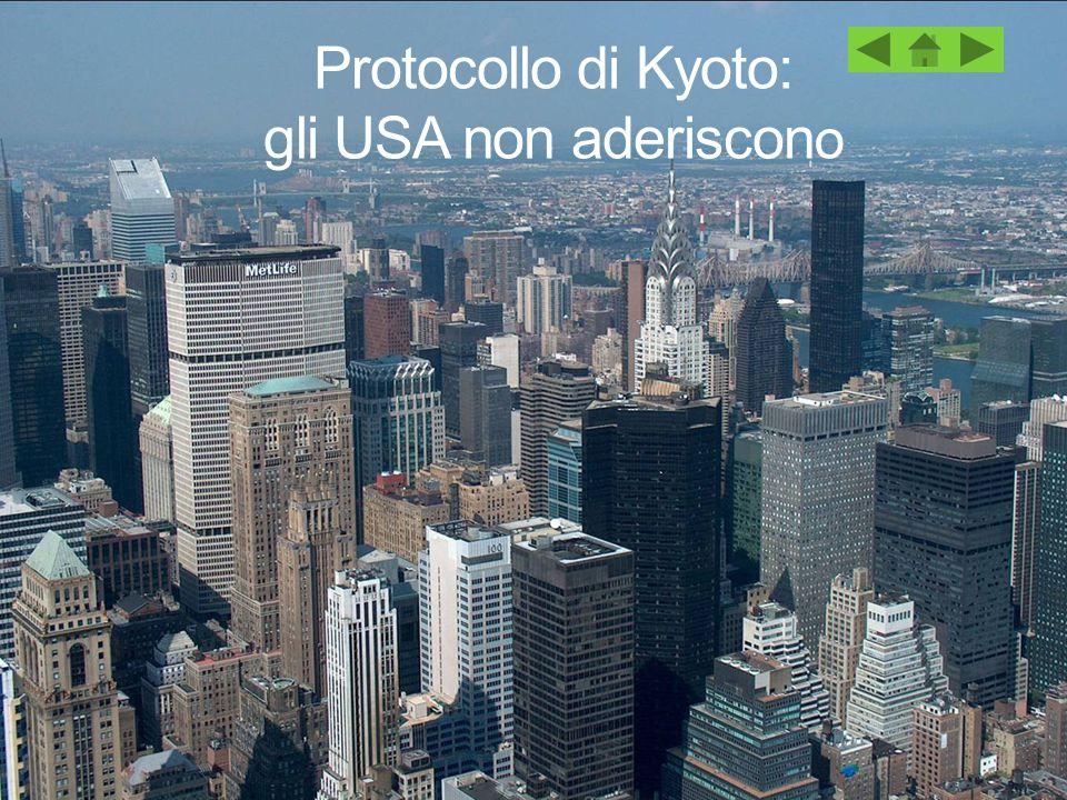 Protocollo di Kyoto: gli USA non aderiscon o