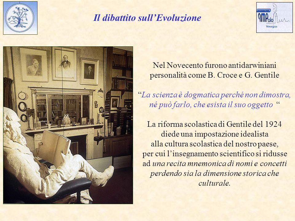 Il dibattito sull'Evoluzione Nel Novecento furono antidarwiniani personalità come B.