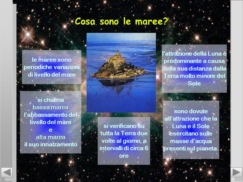 Cosa sono le maree? le maree sono periodiche variazioni di livello del mare l'attrazione della Luna è predominante a causa della sua distanza dalla Te