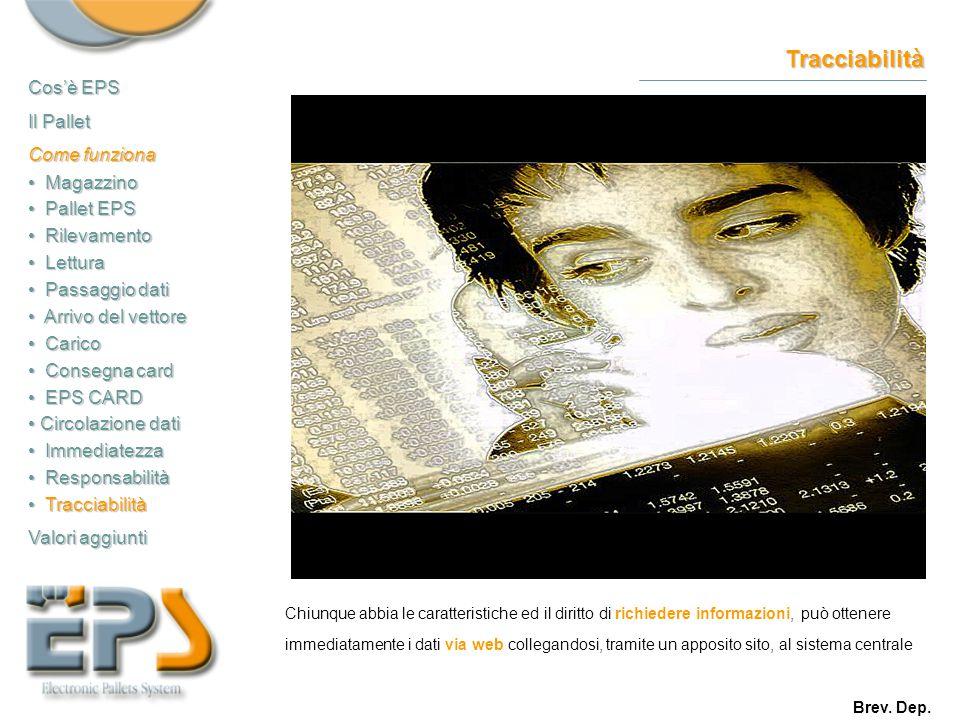 Tracciabilità Chiunque abbia le caratteristiche ed il diritto di richiedere informazioni, può ottenere immediatamente i dati via web collegandosi, tra