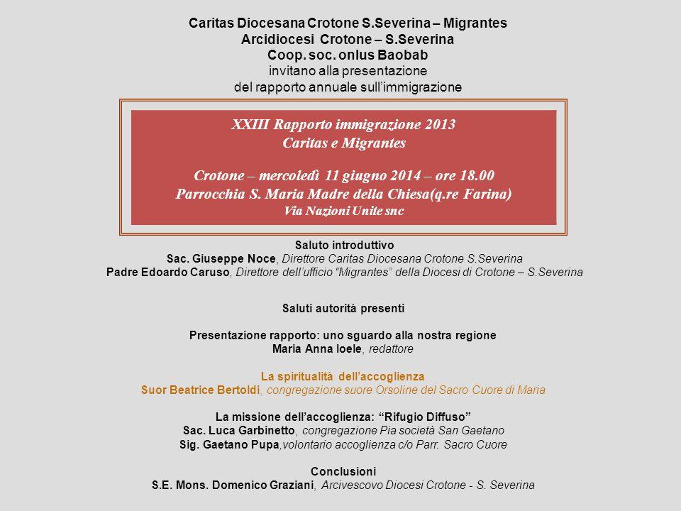 Caritas Diocesana Crotone S.Severina – Migrantes Arcidiocesi Crotone – S.Severina Coop.