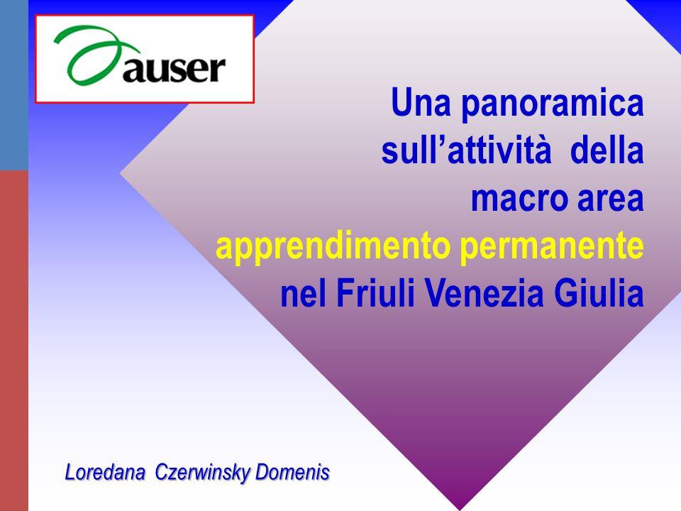 Una panoramica sull'attività della macro area apprendimento permanente nel Friuli Venezia Giulia Loredana Czerwinsky Domenis