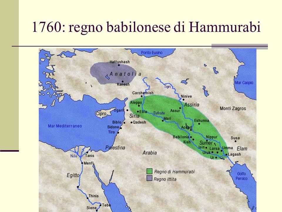 1760: regno babilonese di Hammurabi