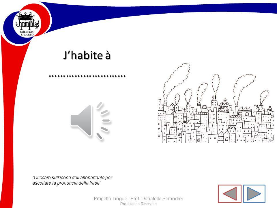 """Produzione Riservata """"Cliccare sull'icona dell'altoparlante per ascoltare la pronuncia della frase"""" Progetto Lingue - Prof. Donatella Serandrei Mon éc"""