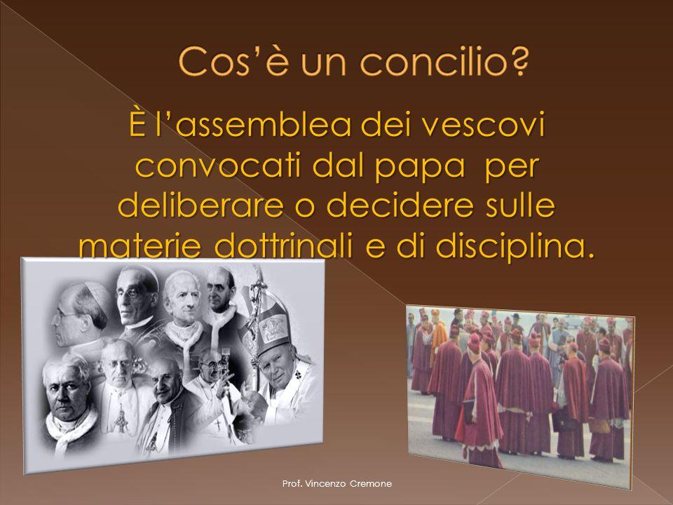 È l'assemblea dei vescovi convocati dal papa per deliberare o decidere sulle materie dottrinali e di disciplina.