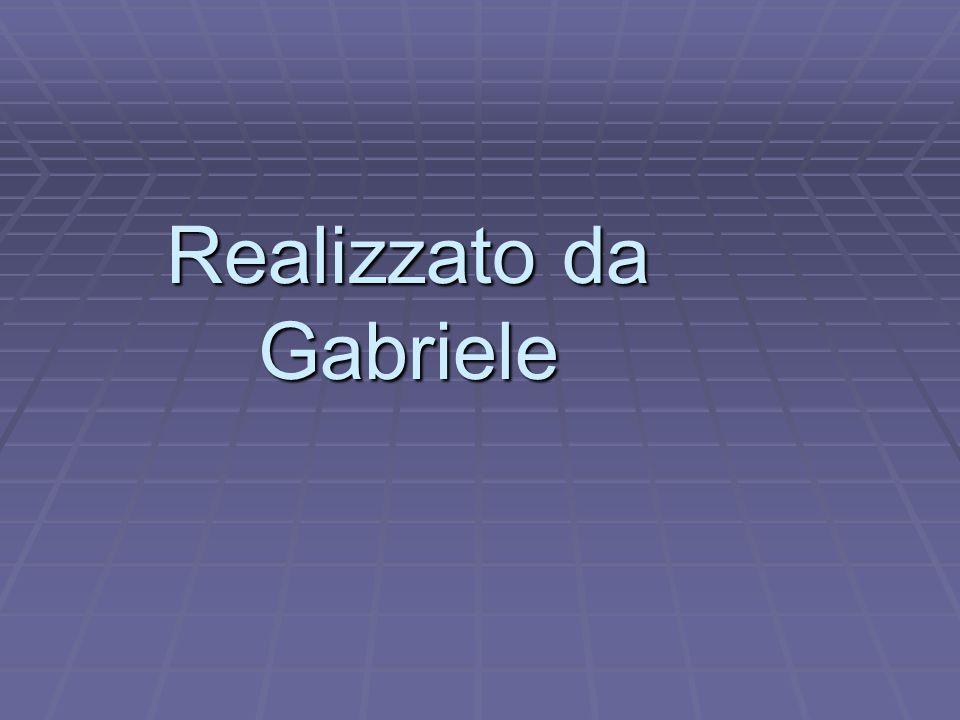 Realizzato da Gabriele