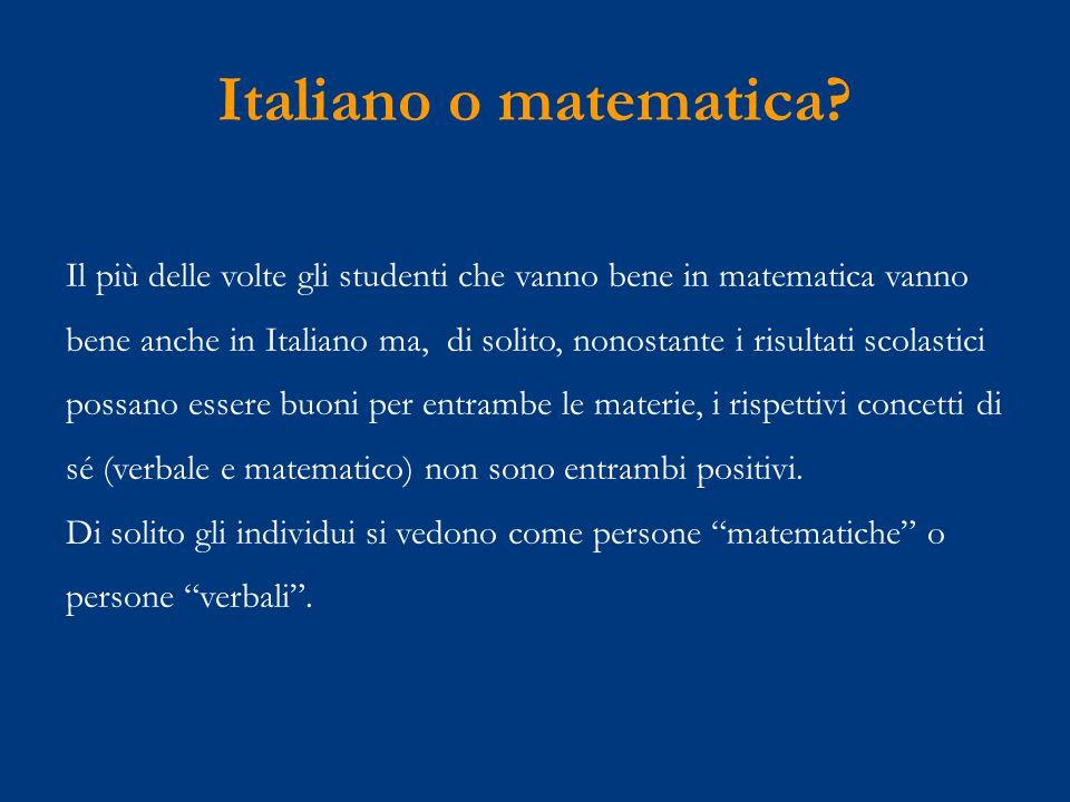 Italiano o matematica.