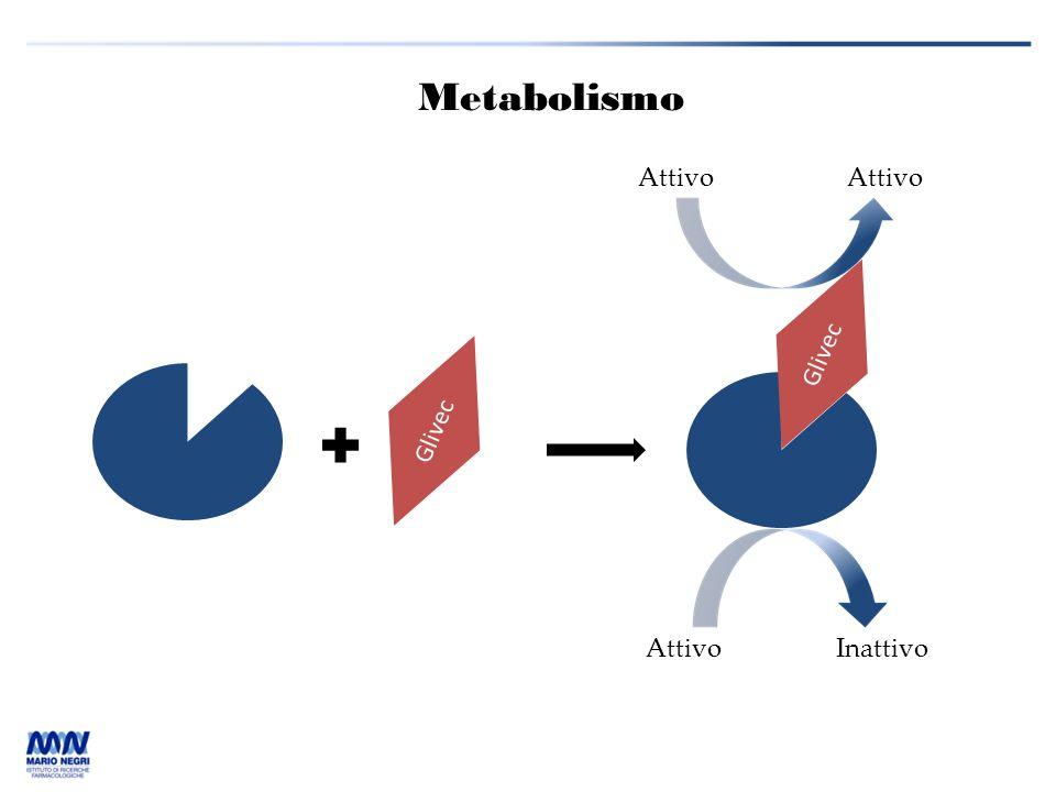 Metabolismo Glivec AttivoInattivo Attivo