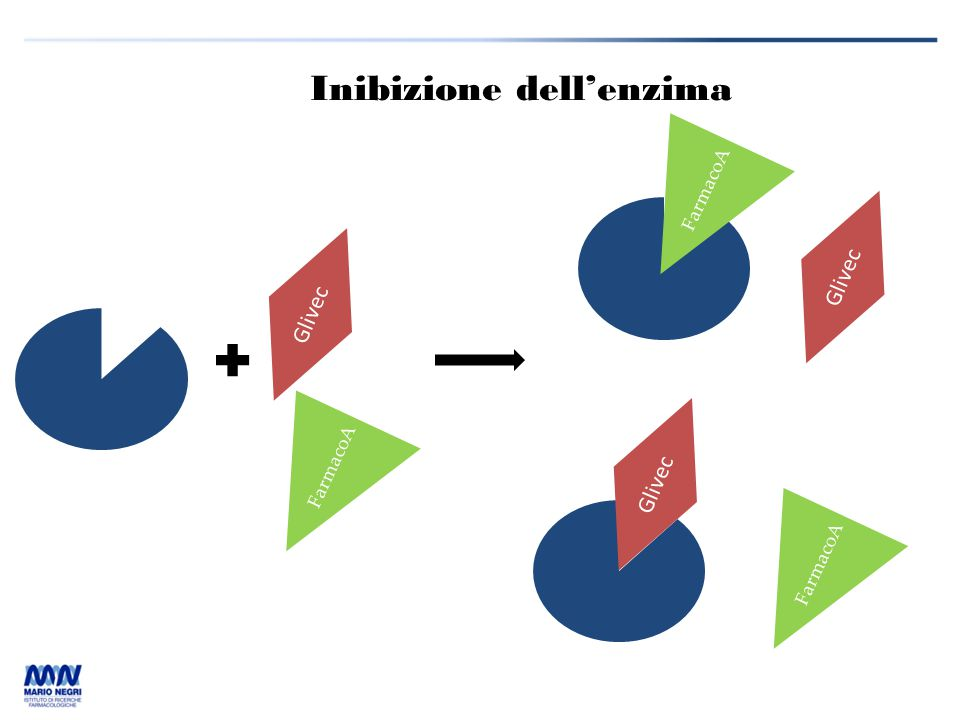 Inibizione dell'enzima Glivec FarmacoA Glivec FarmacoA Glivec FarmacoA