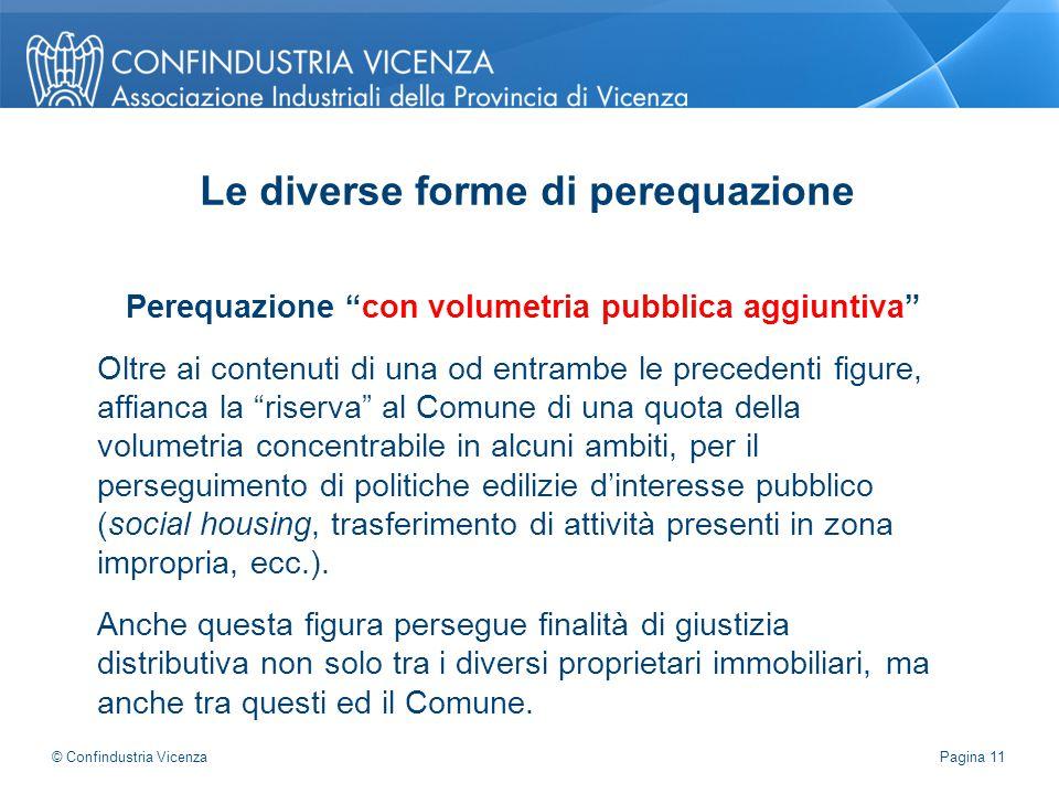 """Perequazione """"con volumetria pubblica aggiuntiva"""" Oltre ai contenuti di una od entrambe le precedenti figure, affianca la """"riserva"""" al Comune di una q"""