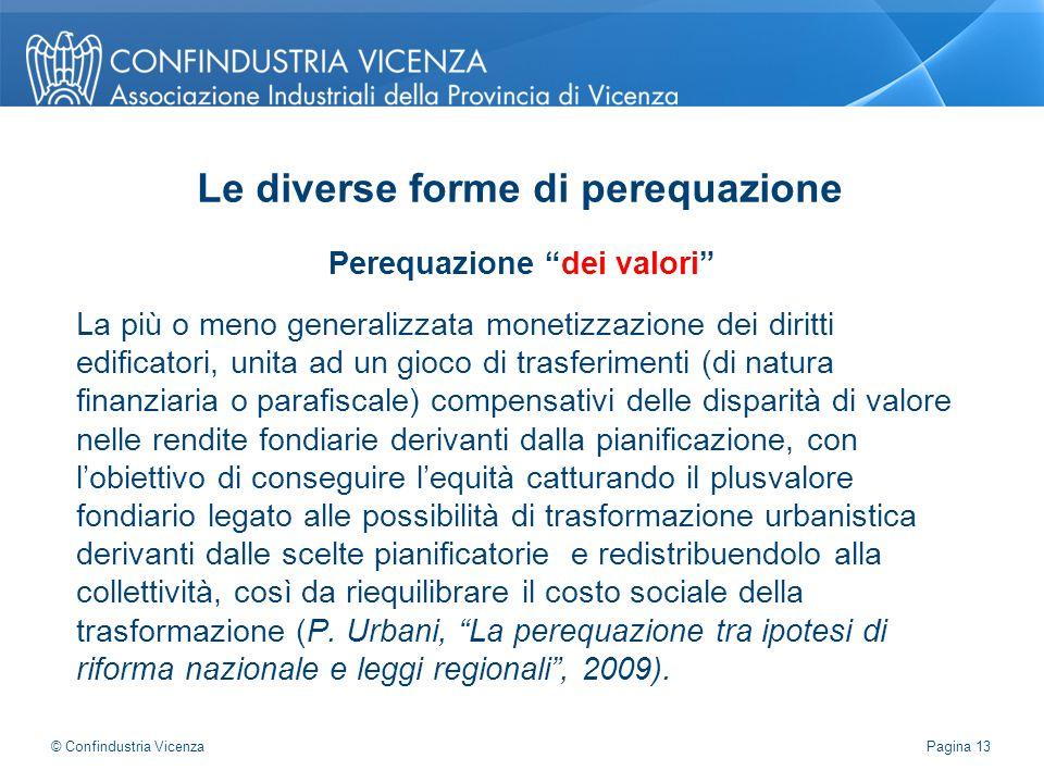 """Perequazione """"dei valori"""" La più o meno generalizzata monetizzazione dei diritti edificatori, unita ad un gioco di trasferimenti (di natura finanziari"""
