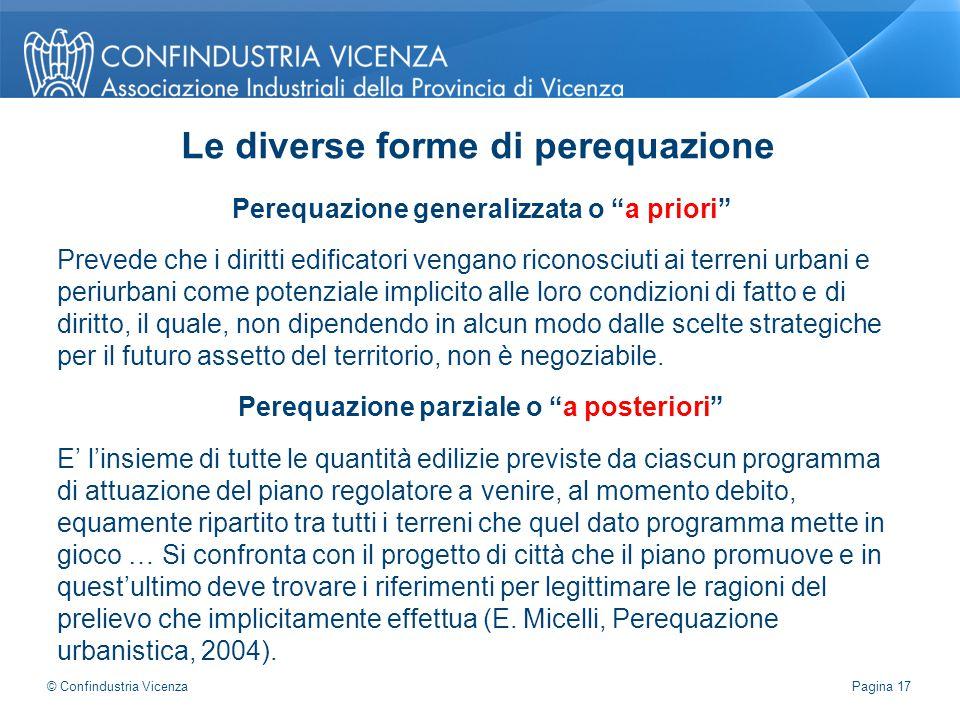"""Perequazione generalizzata o """"a priori"""" Prevede che i diritti edificatori vengano riconosciuti ai terreni urbani e periurbani come potenziale implicit"""