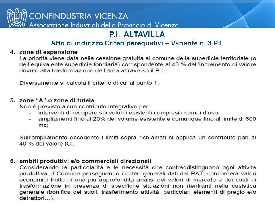 P.I. ALTAVILLA Atto di indirizzo Criteri perequativi – Variante n. 3 P.I. Pagina 26 © Confindustria Vicenza