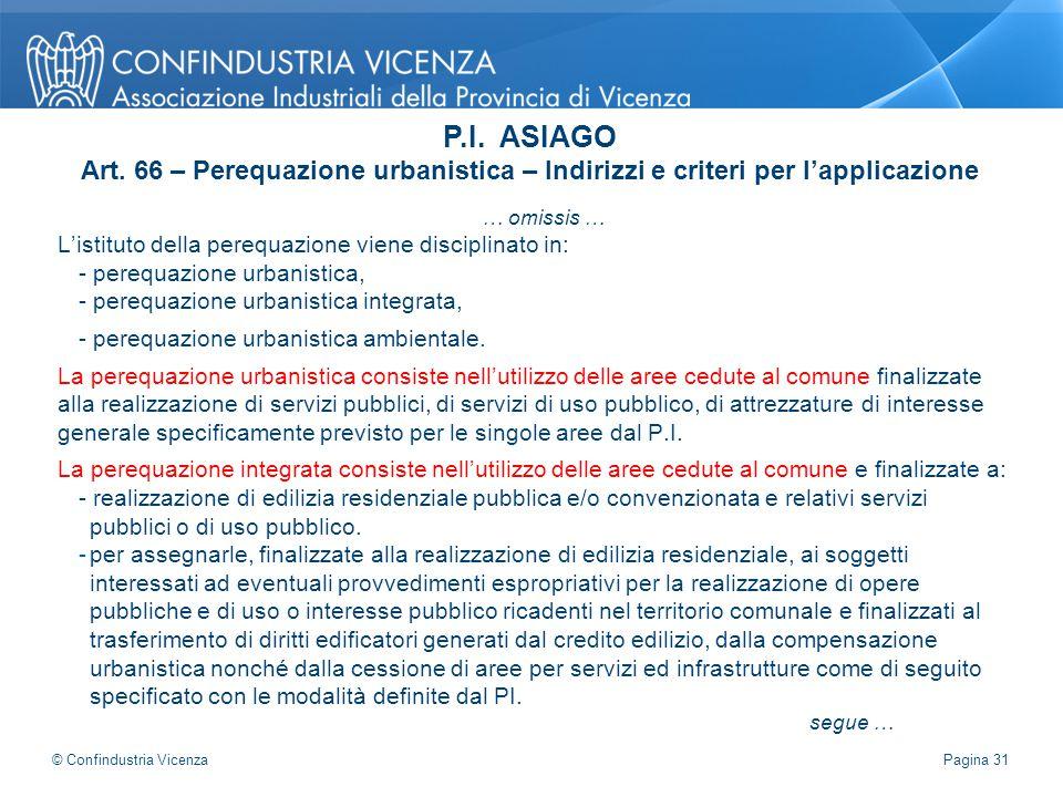 … omissis … L'istituto della perequazione viene disciplinato in: - perequazione urbanistica, - perequazione urbanistica integrata, - perequazione urba