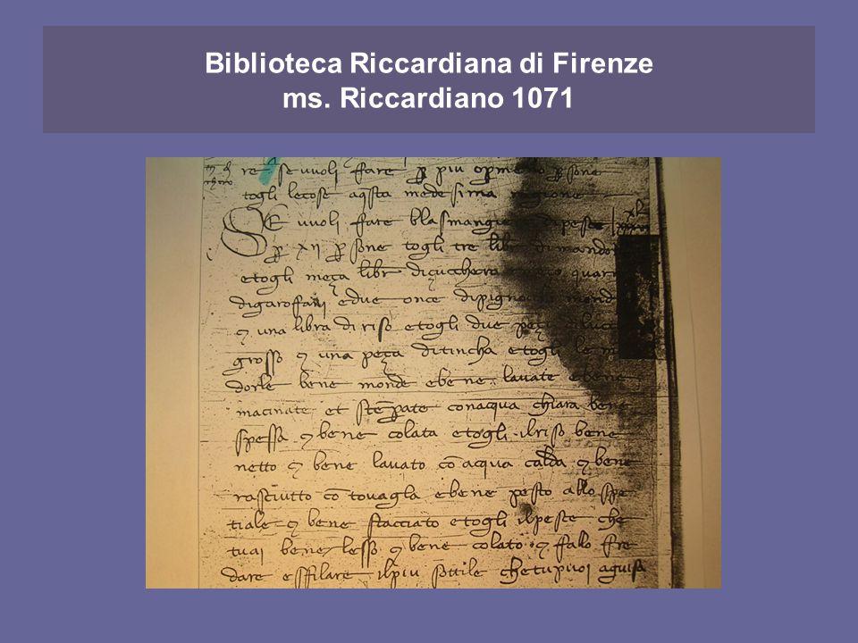 Biblioteca Riccardiana di Firenze ms. Riccardiano 1071