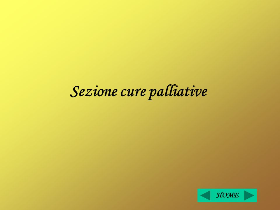Sezione cure palliative HOME