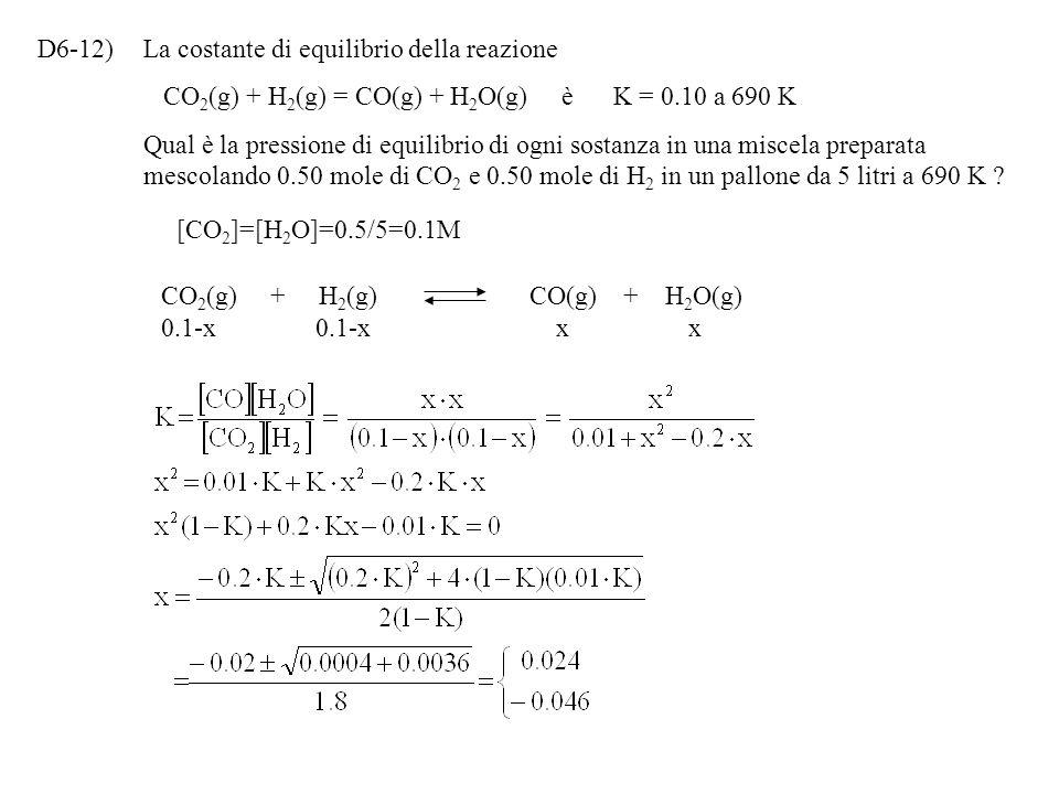 D6-11)Il composto gassoso NOBr si decompone secondo la reazione NOBr(g) = NO(g) + 1/2 Br 2 (g). A 350K, la costante di equilibrio Kp è uguale a 0,15.