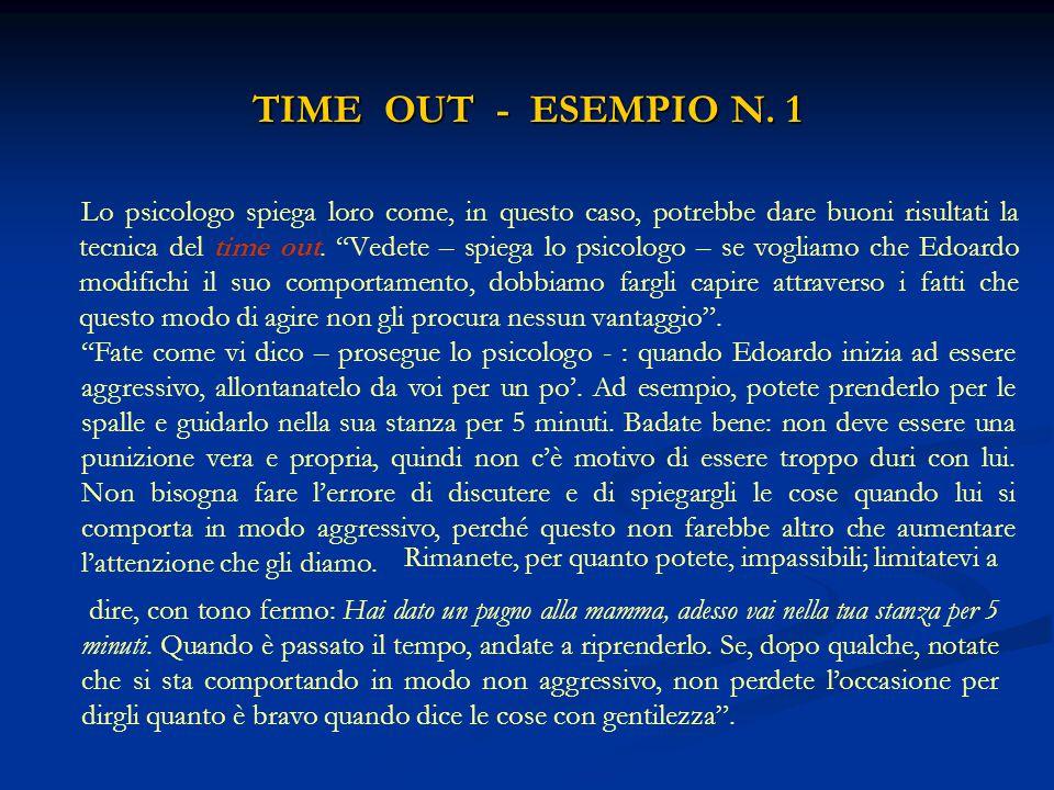 """TIME OUT - ESEMPIO N. 1 Lo psicologo spiega loro come, in questo caso, potrebbe dare buoni risultati la tecnica del time out. """"Vedete – spiega lo psic"""