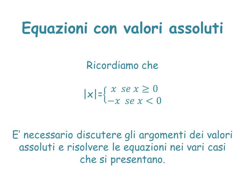 Equazioni con valori assoluti