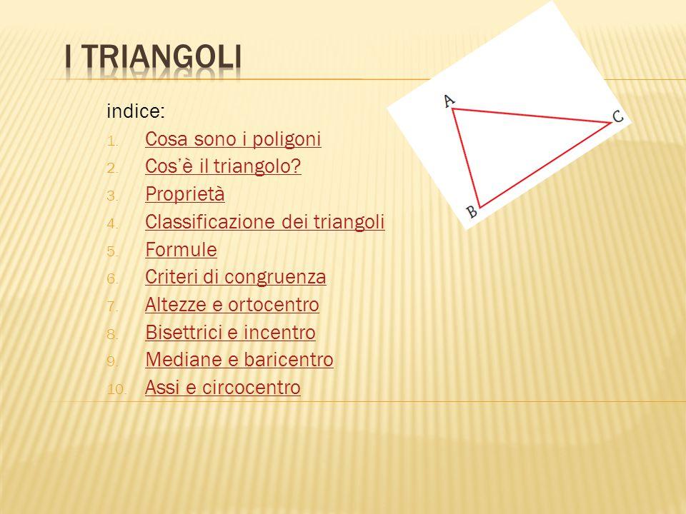  L'altezza di un triangolo relativa a un lato è il segmento di perpendicolare condotto da un vertice al lato opposto o al suo prolungamento.