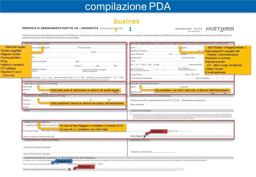 2 Flaggare l'offerta scelta dal cliente e relative opzioni.