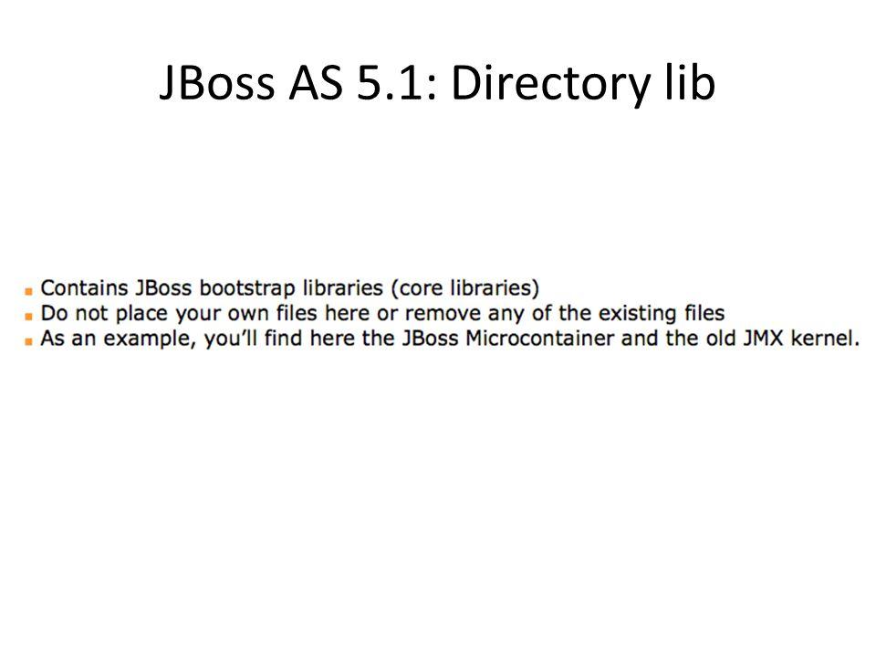 JBoss AS 5.1: Directory lib
