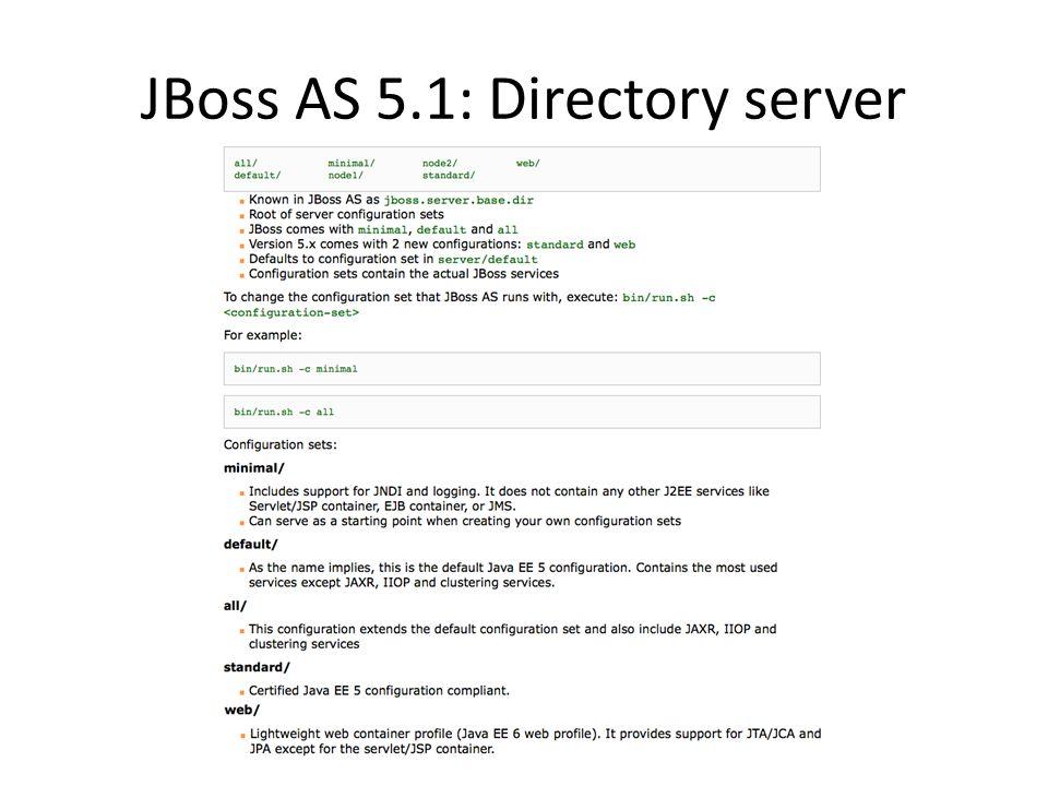 JBoss AS 5.1: Directory server