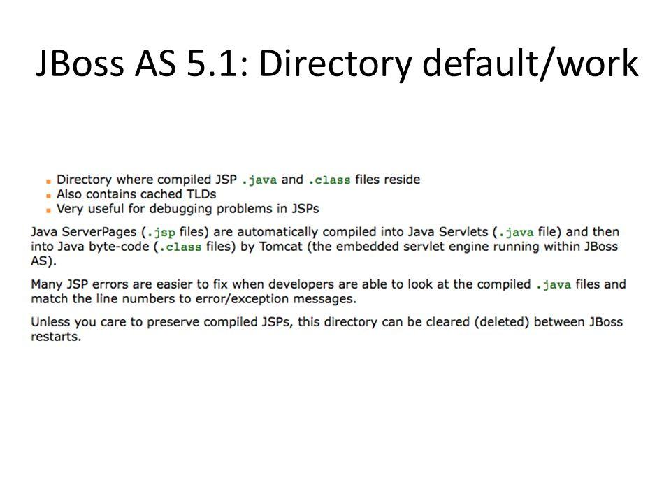 JBoss AS 5.1: Directory default/work