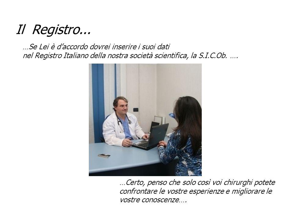 …Se Lei è d'accordo dovrei inserire i suoi dati nel Registro Italiano della nostra società scientifica, la S.I.C.Ob. …. …Certo, penso che solo così vo