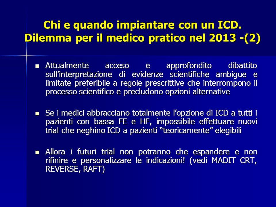 Chi e quando impiantare con un ICD.