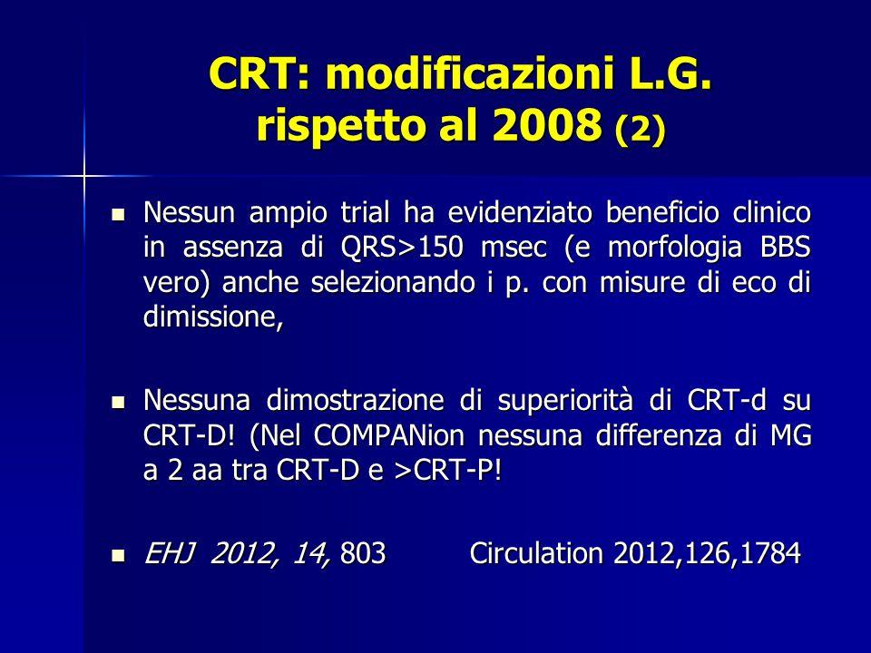 CRT: modificazioni L.G.