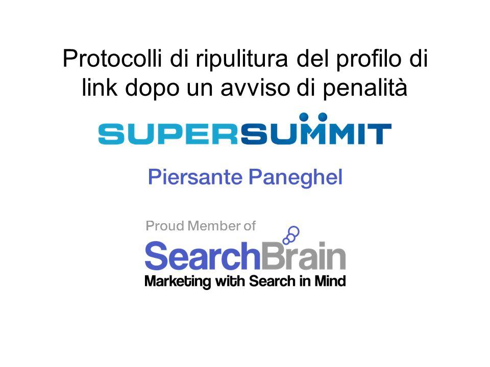 Proud Member of Protocolli di ripulitura del profilo di link dopo un avviso di penalità Piersante Paneghel