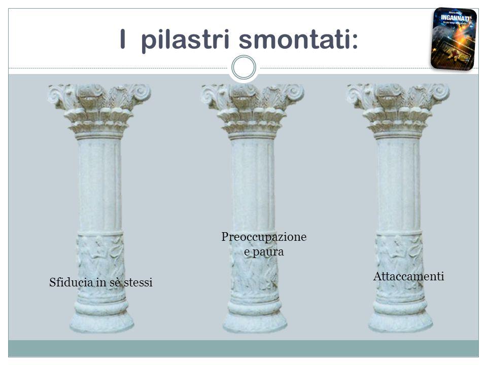 I pilastri smontati: Sfiducia in sè stessi Attaccamenti Preoccupazione e paura